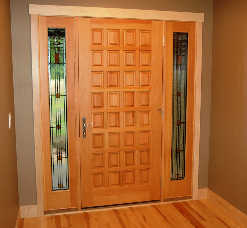 Exterior doors custom wood steel madison wi for Hardwood front doors