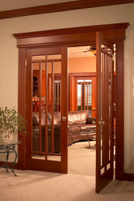 custom wood interior doors stained with glass madison wi - Interior Doors
